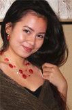 طبقات يصنع خرزة وكبّل عقد ومجوهرات مجموعة مع أحمر جانبا