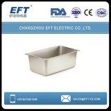 Roestvrij staal 1/4 Geperforeerde Pan Gastronorme/de Pan van GN van de Container van het Voedsel