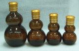 Calebasse huile essentielle d'Ambre bouteille en verre avec bouchon Golden Rose Ldj-105