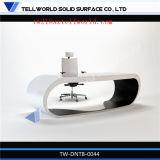 Corain 글로벌 현대 백색 목제 효력 의자를 가진 작은 인공적인 돌 사무실 책상