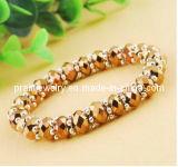 Facetas amarillo Crystal Beads Bisutería Jewellry encanto encanto pulseras Pulsera de Piedra Ecológico (PB-108)