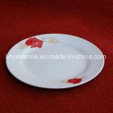 Piatto di ceramica di Decaled della lamina piana di marca di Morun