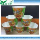 Cuadro de pasta para los fideos Restaurante biodegradable para uso alimentario sopa caliente Tazón de papel