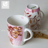 Becher-Kaffeetasse-trinkender Becher des Förderung-Geschenk-14oz keramischer