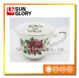 Tazza di caffè di Cina di osso Bd023 con il filetto di Gloden