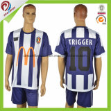 Uniformes De Futbol Soccer 호리호리한 적합 축구 저어지 축구 셔츠 제작자 축구 저어지 타이란드 질 줄무늬 축구 저어지
