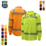안전 성과 공용품은 안락 내구성 산업용 작업 셔츠를 결합한다