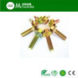 Grade8.8等級4.8の炭素鋼の黄色によって電流を通される十六進フランジのボルトDIN6921