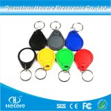 アクセス制御のための125kHz Em4100 RFID Keyfob Keychainの札