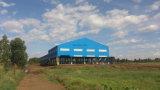 Costruzione industriale della fabbrica del magazzino fatta dal blocco per grafici della struttura d'acciaio