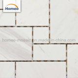 La decoración del hogar Venta caliente cuarto de baño azulejo mosaico de mármol blanco