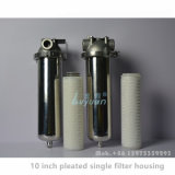 Morsetto 10 di alta qualità 20 singolo alloggiamento della cartuccia di filtro dall'acciaio inossidabile di pollice 304 per l'acqua del liquido dai 5 micron