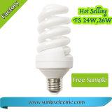Espiral completo T4 60W CFL que enciende la lámpara ahorro de energía