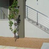 Balcon moderne / Escalier / fil câble en acier inoxydable / Main courante de la conception de la tige