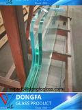 Haut de bonne qualité personnalisé la transmittance clair Verre feuilleté pour la conception moderne du décor