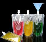 Sacchetto impaccante Doypack della spremuta dell'OEM del becco liquido trasparente di plastica della bevanda