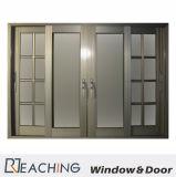 Окно золотистого цвета алюминиевое с решеткой обеспеченностью и анти- сетка мухы согласно Requirments
