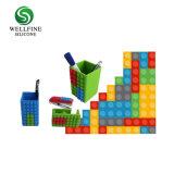 Suporte de papelaria de silicone, porta-canetas bricolage