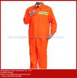 Workwear костюма изготовленный на заказ польностью защитной померанцовой втулки Coverall длинней равномерный (W369)
