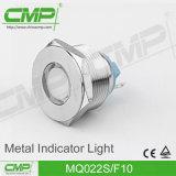 luz de indicador del acero inoxidable LED de 22m m