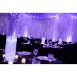 O contexto do evento drapeja a tubulação usada decoração do local de encontro do casamento e drapeja-a para a venda