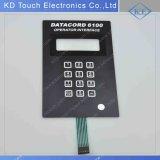 Тактильная выбитая поверхность стыка управлением переключателя кнопочной панели мембраны для оператора