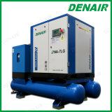 compressor de ar montado tanque integrado empacotado 15kw do parafuso com secador