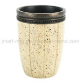 Conjunto sanitario de los vasos y de las tazas del cuarto de baño de la resina