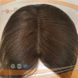 Cheveux humains perruque de la moitié supérieure de la soie (PPG-L-01361)