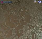 La feuille de plaque de couleur de perfection d'acier inoxydable a gravé en relief