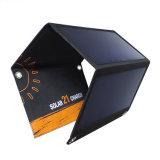 21W Sunpower faltbare flexible weiche elastische bewegliche SolarHandy-Energien-Panel-Tuch-Aufladeeinheit