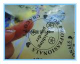 Etiqueta autoadhesiva redonda auta-adhesivo de empaquetado de la escritura de la etiqueta