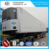 3 de Semi Aanhangwagen van de Ijskast van assen, 40 Voet Refrigerator Cooling Van Box Trailer voor Verkoop
