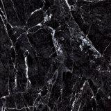 Marmo nero all'ingrosso della Cina che sembra le mattonelle di pavimentazione dell'interno lustrate della porcellana della stanza da bagno