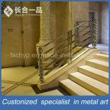 Fábrica de fabricación de diseño especial de acero inoxidable Escalera Barandilla Barandilla