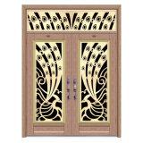 ステンレス鋼の固体複式記入のドアハンドルのステンレス鋼のドア