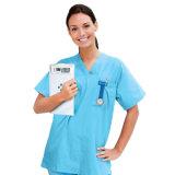 Las enfermeras analógico reloj con correa de poliéster y de la etiqueta de plástico