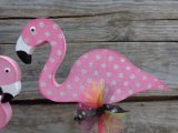 Étagère de décoration en bois de gardiennes de Flamingo