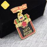 Exército de esmalte personalizado Sports Pino Nome da Polícia de estanho Preço de metal de bronze Badge OEM