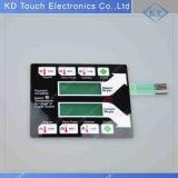 Membranen-Tastaturblock-Schalter-Basissteuerpult Soem-Flach-LED mit transparentem Fenster