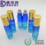 frasco de vidro do rolo dos frascos do rolo da cor 10ml azul com a esfera de metal para o petróleo essencial