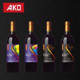 La botella de vino etiqueta aduana resistente de agua y las escrituras de la etiqueta personalizadas para la boda u otra uso