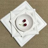 La polpa biodegradabile della bagassa degli articoli per la tavola di colore naturale placca il quadrato