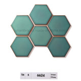 95X110 Crystal Cristal brillante verde porcelana hexagonal Intrior Mosaico de uso