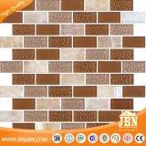 Black Color Plating Stone and Glass Mosaic para interiores e exteriores (M855005)