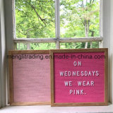 Panneau de lettre de feutre avec le bâti changeable Letterboard en bois de hêtre de signes de lettres avec la bride de fixation en métal