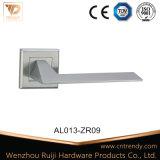 Poignée du levier de porte en bois dans le matériau aluminium (AL008-ZR05)