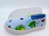 新しい子供のフルーツの靴のスリップオンのズック靴の注入の靴(ZL1017-1)
