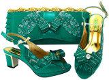 2018 горячая продажа обувь и сумки многоцветные обувь и сумка леди обувь сумки для группы