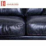 Мебель софы комнаты установленных конструкций софы Италии неподдельная Nappa американской черноты типа кожаный живя